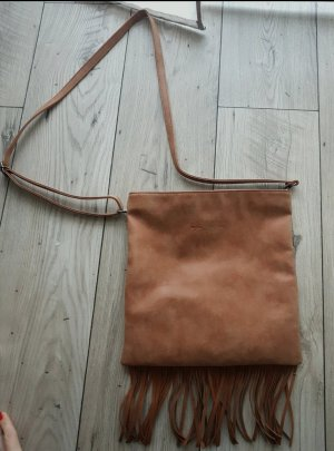 Fritzi aus preußen Fringed Bag brown-cognac-coloured