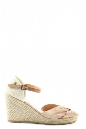 Fritzi aus preußen Wedge Sandals natural white-nude striped pattern casual look