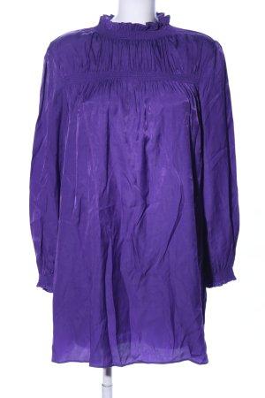 FRNCH Langarm-Bluse lila Elegant