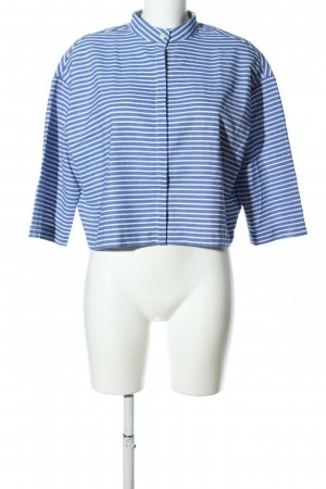 FRNCH Oversized Bluse blau-weiß Streifenmuster Casual-Look