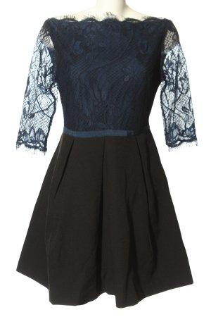 FRNCH Spitzenkleid blau-schwarz Elegant