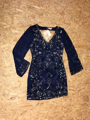 FROCK AND FRILL  Abendkleid / Cocktailkleid  mit passendem Jäckchen  dunkelblau