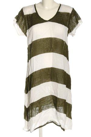 Frockk Chemisier bianco-cachi motivo a righe stile casual