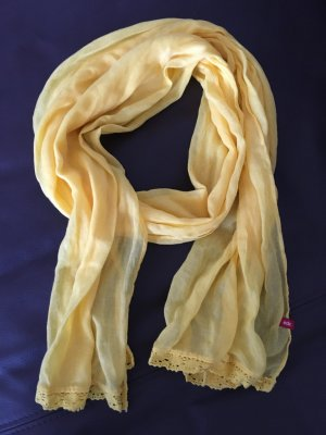 Edc Esprit Bufanda amarillo-amarillo neón