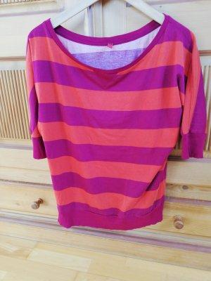 QS by s.Oliver Stripe Shirt orange-red cotton