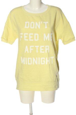 Frog Box Sweatshirt blassgelb-weiß Schriftzug gedruckt Casual-Look