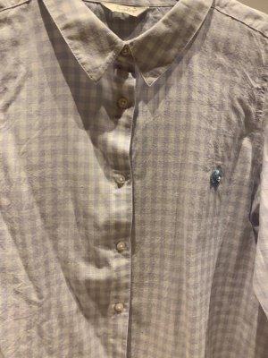 Frogbox Bluse in hellblau kariert Gr. S