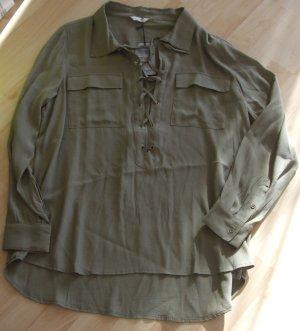 FROGBOX Bluse -  khaki - Gr. 42 - Viskose