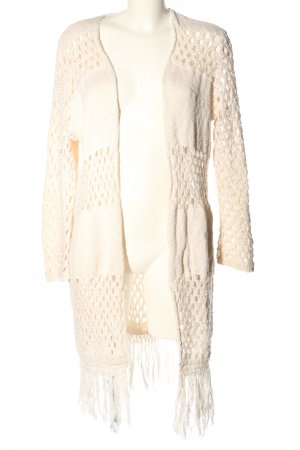Frogbox Cardigan all'uncinetto bianco stile casual