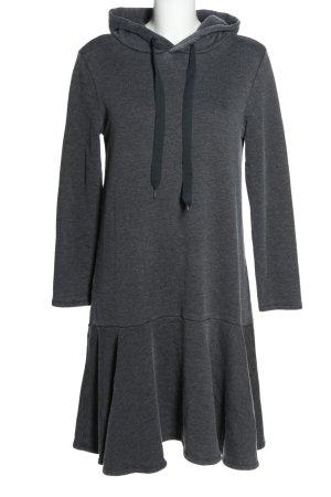 Frogbox Robe à capuche gris clair moucheté style décontracté