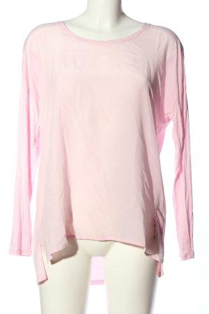 Frogbox Langarm-Bluse pink Casual-Look
