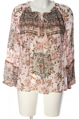 Frogbox Langarm-Bluse Allover-Druck Casual-Look