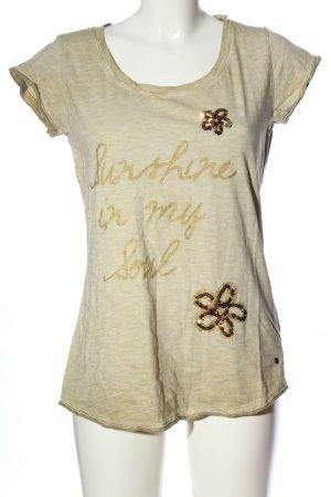 Frogbox Print-Shirt wollweiß Schriftzug gedruckt Casual-Look