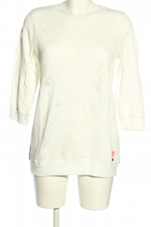 Frogbox Rundhalspullover creme Casual-Look
