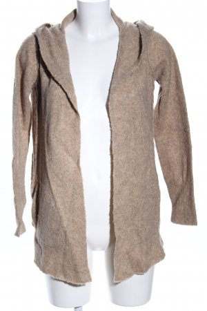 Frogbox Strick Cardigan nude Allover-Druck Casual-Look