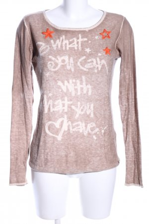 Frogbox Sweatshirt Schriftzug gedruckt Casual-Look
