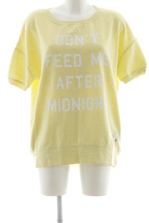 Frogbox Sweatshirt blassgelb Motivdruck Street-Fashion-Look