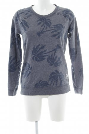 Frogbox Sweat Shirt slate-gray-dark blue allover print casual look