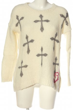 Frogbox Wollpullover abstraktes Muster Casual-Look