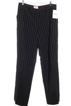 FROM by Vestebene Anzughose schwarz-weiß Streifenmuster Business-Look