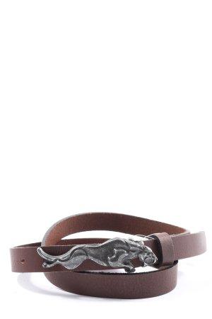 Fronhofer Cintura di pelle nero elegante