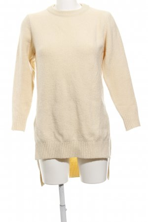 FRONT ROW SHOP Longpullover hellbeige Casual-Look
