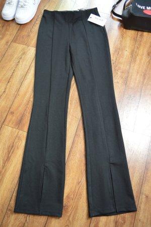 Front Slit Jersey Pants schwarz neu Nakd Gr. 38