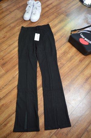 Front Slit Jersey Pants schwarz neu Nakd Gr. 38 neu mit Eikett