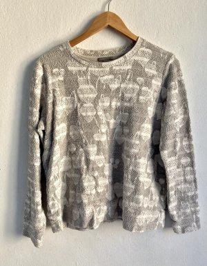 COS Suéter gris claro-blanco