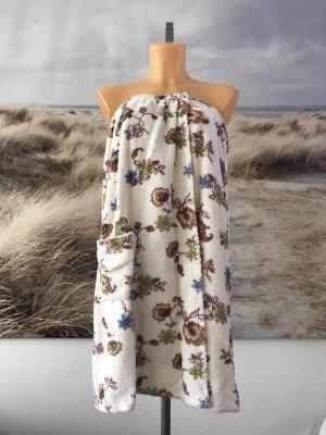 Frotteekleid * Saunarock/Saunakilt * mit floralem Muster