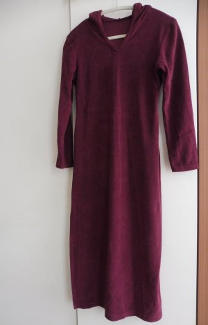Frottier-Relax-Kleid mit Kapuze
