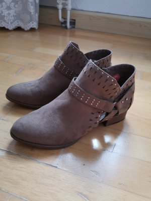 Cut Out Booties grey brown