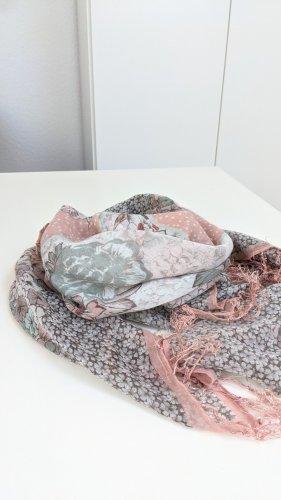 H&M Szal letni biały-jasny różowy