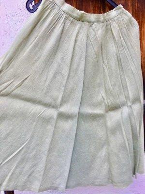 Jupe évasée vert pâle