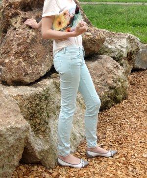 Frühlings-HIT: Türkise Jeans-Hose, Zara Trafaluc, 34, XS, sehr bequem zu tragen