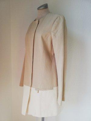 Frühlings Mantel Baumwolle retro Look wie Audrey Hepburn Gr. 38 S M neu beige halblang