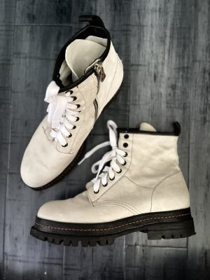 A.S.98 Combat Boots natural white-black