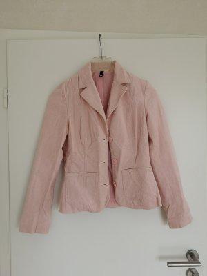 Frühlingshafter Blazer Cord rosa