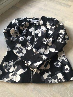 Blouson blanc-noir coton