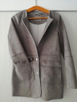 Vero Moda Korte Jas lichtgrijs-grijs