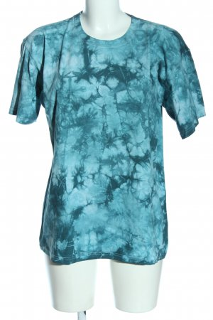 Fruit of the Loom Camisa batik gris claro-azul estampado con diseño abstracto