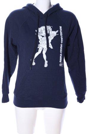 Fruit of the Loom Sweatshirt blau Motivdruck Casual-Look