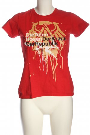 Fruit of the Loom T-Shirt rot Motivdruck Casual-Look