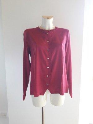 Blusa con volantes magenta-rojo frambuesa Viscosa
