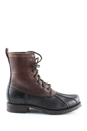 Frye Ankle Boots braun-schwarz Casual-Look