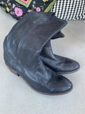 Frye Botas estilo vaquero negro