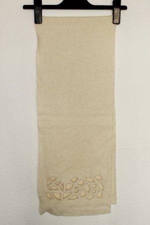 Bufanda de cachemir crema tejido mezclado