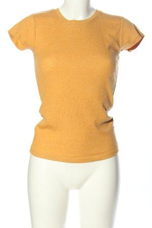 FSBN Chemise côtelée orange clair style décontracté