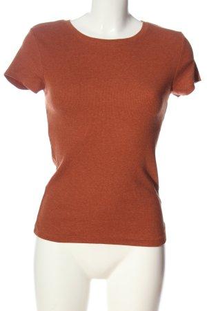 FSBN SISTER Prążkowana koszulka brązowy W stylu casual