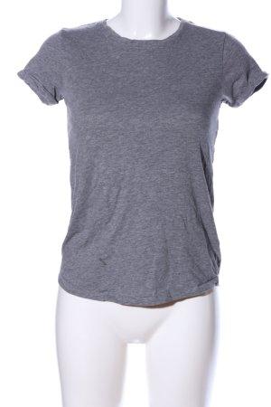 FSBN T-Shirt hellgrau meliert Casual-Look